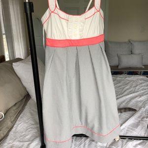 Dress Barn Pretty Sailor Dress Seersucker Print
